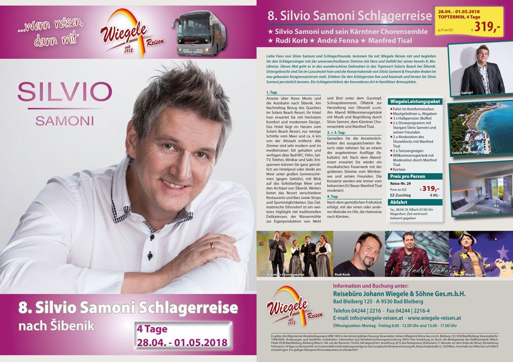 8. Silvio Samoni Schlagerreise nach Šibenik