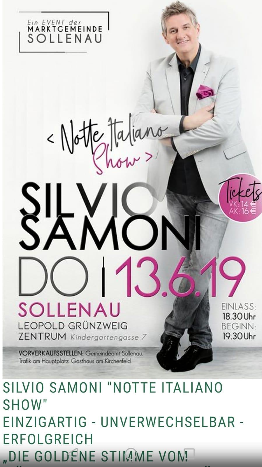 Notte Italiana – Sollenau, Leopold Grünzweig Zentrum