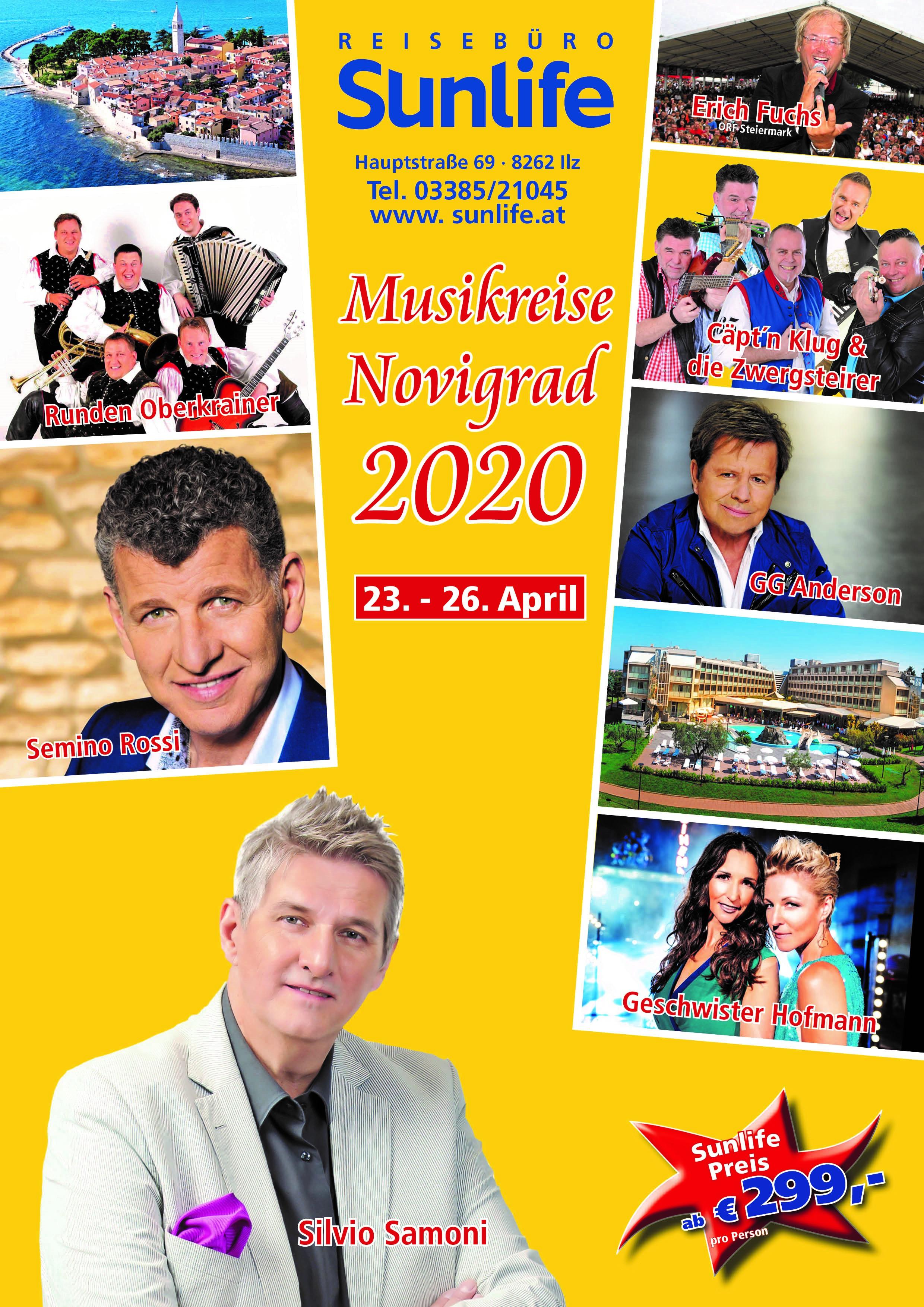 Musikreise 2020 Nach Novigrad Vom 23. – 26.04.2020