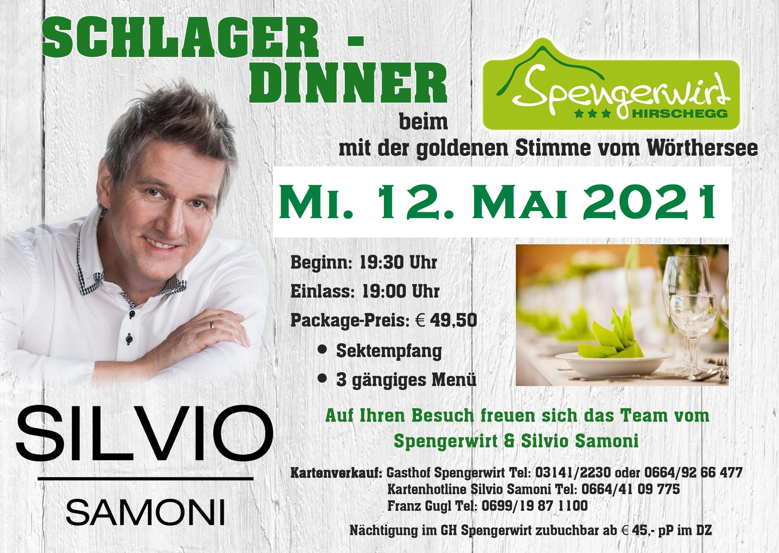 Schlager-Dinner beim Spengerwirt in Hirschegg